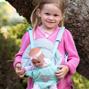 0692b6115cc Amazon.com  Adora Zig Zag Baby Carrier Baby Doll Carrier  Toys   Games
