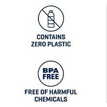 zero plastic, bpa-free