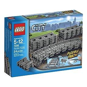 Lego City Flexible Railway Train Track x 8pce Set *Brand New*  64022