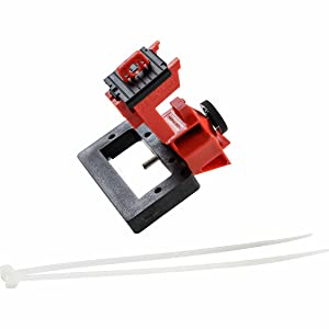 148687 Brady TAGLOCK Circuit Breaker Lockout Devices 480//600 Volt Clamp-On Single-Pole Breaker Lockout Device with Detachable Cleat No Lock Needed Red Brady Corp Pack of 6