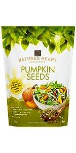 Nature's heart, chia seeds, terrafertil; cacao nibs;pumpkin seeds;coconut sugar;cacao powder;coconut
