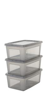 Boîte de rangement en plastique Modular Clear Box