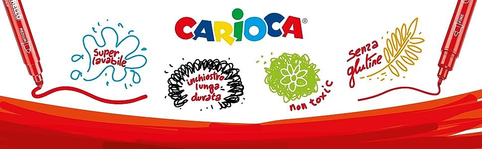 PENNARELLI CARIOCA MADE IN ITALY LAVABILI