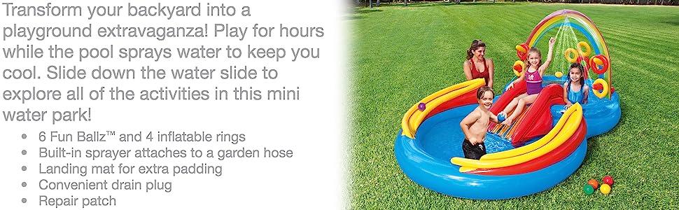 01b365efd855 Amazon.com  Intex Rainbow Ring Inflatable Play Center