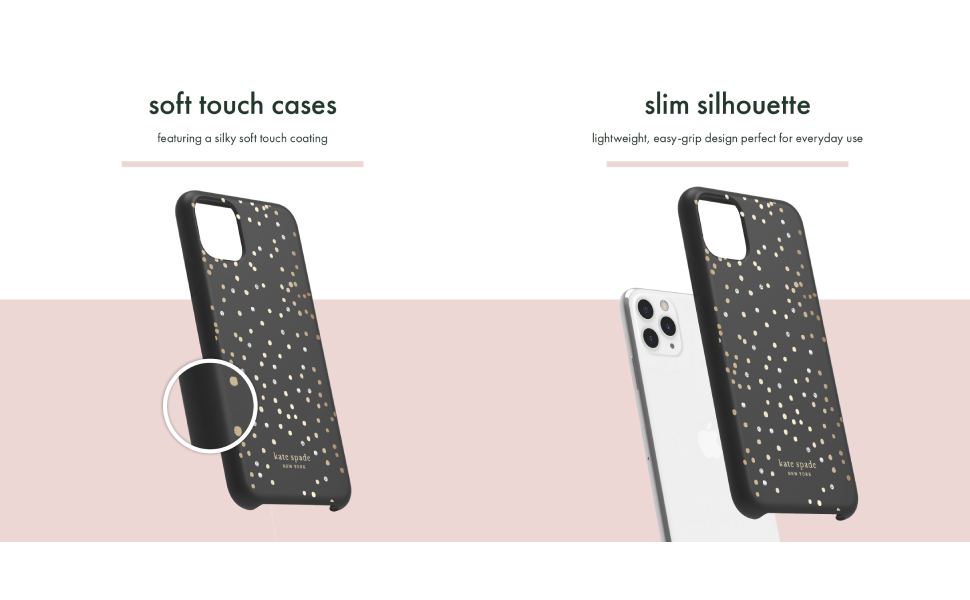 kate spade new york Protective Hardshell Case for iPhone 11 Pro Max - Soft Touch Disco Dots