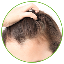 Works by improving scalp health
