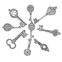 Magic, keys, Magic, pattern, colouring, lines, pens, pencils, mindfulness