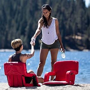 stadium seat, stadium chair, bleacher seat, portable chair, stadium cushion, beach chair, game chair