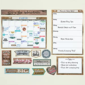clingy thingies home sweet classroom calendar set weekly schedule note sheet positive saying accents