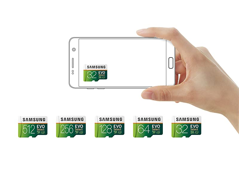 Samsung 32GB 95MB/s (U3) MicroSDXC EVO Select Memory Card with Full-Size Adapter (MB-ME32GA/AM)