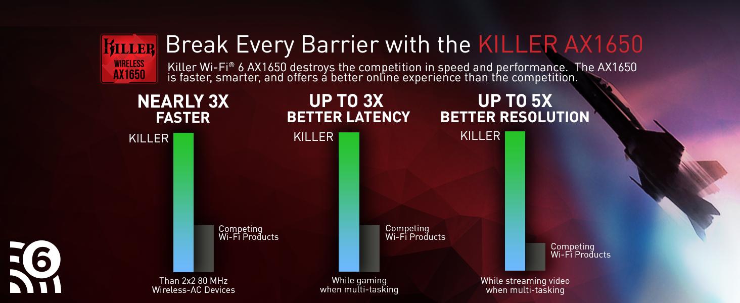 Killer WiFi 6 AX1650