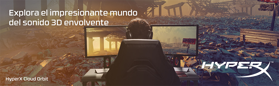 HyperX HX-HSCO-GM/WW Cloud Orbit S - Cascos de Gaming con Audio ...