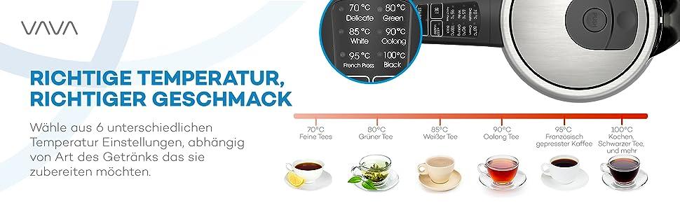 VAVA Wasserkocher - Richtige Temperatur, richtiger Geschmack