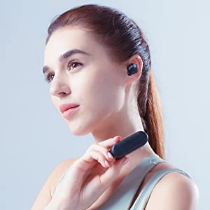 Wireless Earbuds stereo sound with 4 Mics