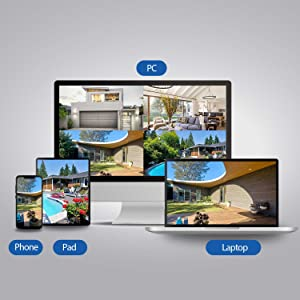 security cameras viewable on smartphone, ipad, tablet, computer pc