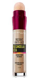 Il Cancella Età, Instant Eraser, Correttore, Occhiaie, Spugnetta,naturale, leggero, colore, fair