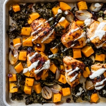 Chicken Breasts with Butternut Squash