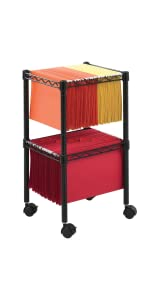 Safco Products 2 Tier Rolling File Cart 5278bl Amazon