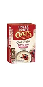 uncle tobys quick sachet oats instant breakfast variety pack berry