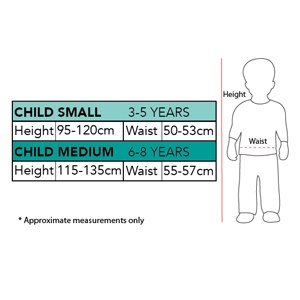 Size Chart 6-8 Years