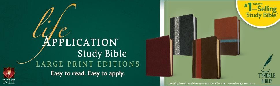 Large Print LASB Life Application Study Bible NLT New Living Translation understandable easy read