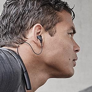 sweatproof headphones running works with iphone apple phone samsung android tv