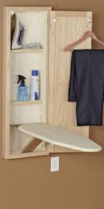 amazon com household essentials 18100 1 stowaway in wall ironing rh amazon com ironing board cabinets in australia ironing board cabinet home depot