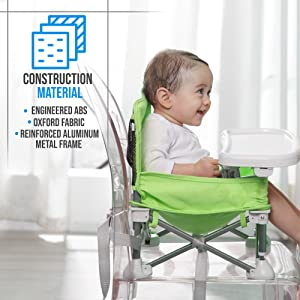 Suavinex Portable Baby Seat Blue Portable Travel Elevator +6 Months Raised Seat