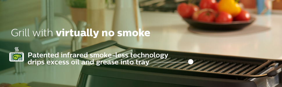 no smoke grilling smokeless technology no oil healthy grilling