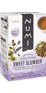 numi organic tea sweet slumber tea bags sleepytime celestial seasonings valerian stress anxiety