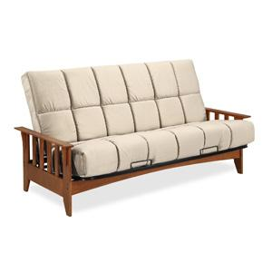 seattle futon frame w  8   beautyrest panel quilted pocketed coil innerspring futon mattress amazon    simmons seattle futon frame vintage oak w  8      rh   amazon