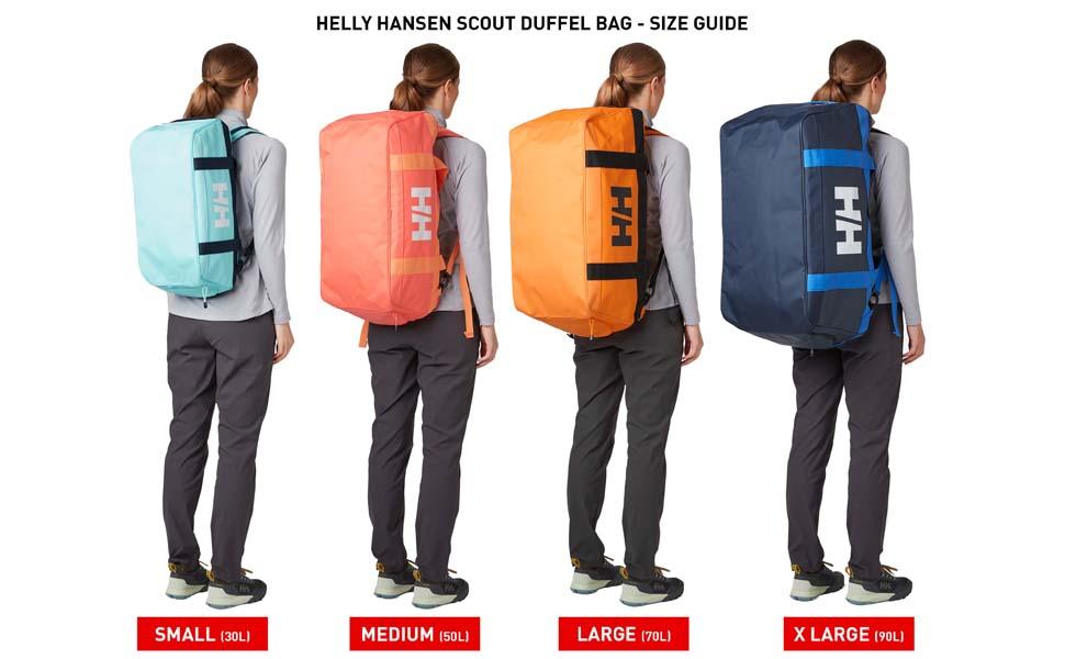 hh scout duffel bag size guide