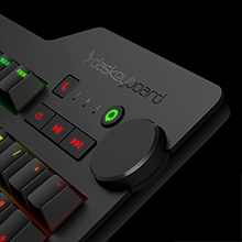 Dedicated Media Controls, Q Button, Oversized, Volume Knob, Mechanical Keyboard, Best, Soft Tactile