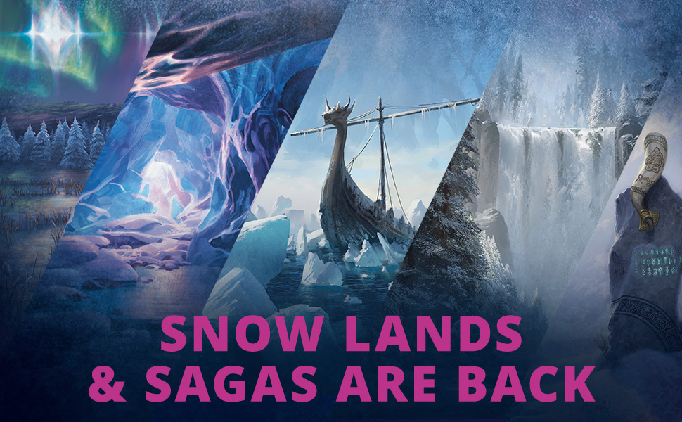 Snow Lands, Sagas, magic the gathering, Magic: the Gathering