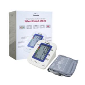 Tensiometro electrónico para brazo SilverCloud MB23 con pantalla LCD y alerta de voz