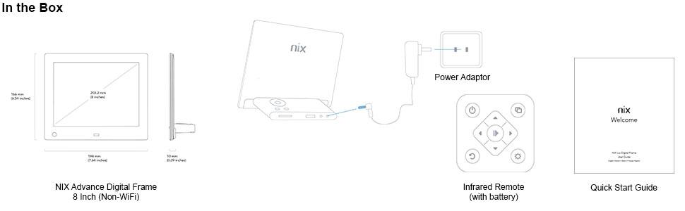 Amazon.com: NIX Advance 8 Inch Digital Photo Frame X08E