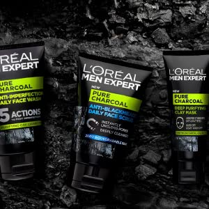L'Oreal Men Expert, Pure Charcoal Range, Charcoal, Black