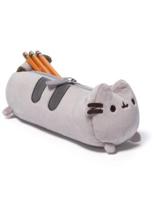"GUND Pusheen Cat Stuffed Animal Plush Accessory Pencil Case, Gray, 8.5"""