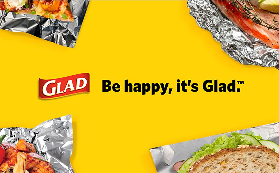 Glad, Foil, Sheets, Non-stick, Tin, Plates, Fork