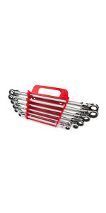 long flex ratcheting box end wrench set
