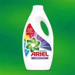 Ariel Colour & Style Líquido, Poder Quitamanchas y Colores Radiantes en 1 Lavado - 1.75