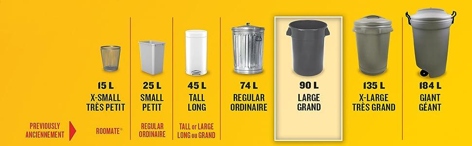 Glad Black Garbage Bags Contractor 170 Litres