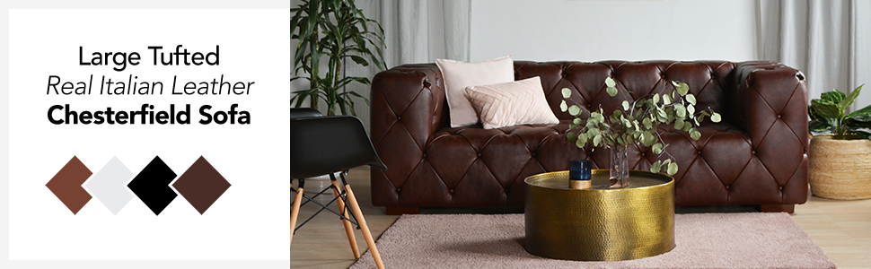 Groovy Large Tufted Real Leather Chesterfield Sofa Classic Living Room Couch Black Alphanode Cool Chair Designs And Ideas Alphanodeonline