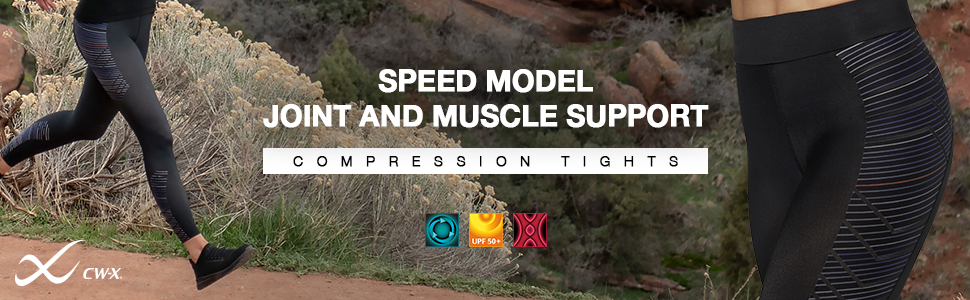 women's CW-X Speed Model joint and muscle support compression tight