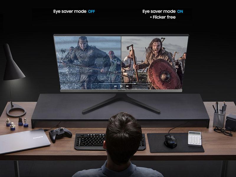 Side by side comparison of Eye Saver Mode OFF v/s ON