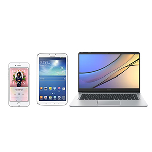 tablet, phone, omputer