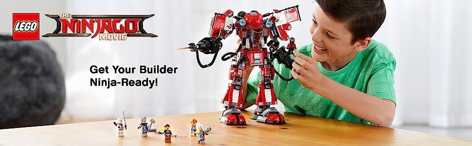 Ninjago Movie, LEGO, building, ninja, creative play, role play, Fire Mech, minifigures