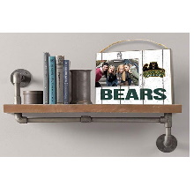Baylor Bears Clip It Weathered Logo Collage Photo Frame
