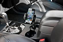 Bracketron Universal Cup-iT Cup holder Mount Phone Cradle For Car Hands Free Law Compatible iPhone X 8 Plus 7 SE 6s 6 5s 5 Samsung Galaxy S9 S8 S7 S6 ...
