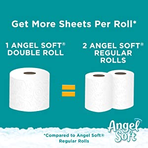 toilet paper double rolls, doube roll, 60% more sheets